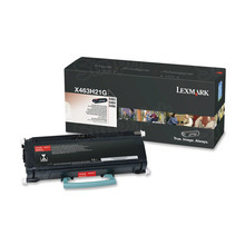 Lexmark OEM High Yield Black Laser Toner Cartridge, X463H21G (X463/X464/X466) (9,000 Page Yield)