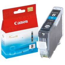 Canon CLI-8C Cyan OEM Ink Cartridge, 0621B002