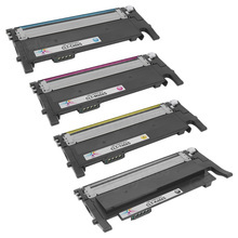 Samsung CLT-406S Series Compatible Set of 4: Black, Cyan, Magenta, & Yellow Toners