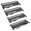 Samsung Compatible CLT-406S Set of 4 Toners: Bk, C, M, Y