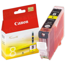 Canon CLI 8Y Yellow OEM Ink Cartridge, 0623B002