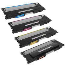 Samsung CLT-409S Series Compatible Set of 4: Black, Cyan, Magenta, & Yellow Toners