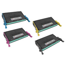 Samsung CLT-508L Series Compatible Set of 4: Black, Cyan, Magenta, & Yellow Toners