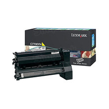 Lexmark OEM High Yield Yellow Return Program Laser Toner Cartridge, C7700YH (C770/C772/X772 Series) (10K Page Yield)