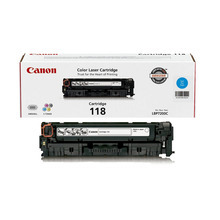 Canon 118 (2,900 Pages) High Yield Cyan Laser Toner Cartridge - OEM 2661B001AA