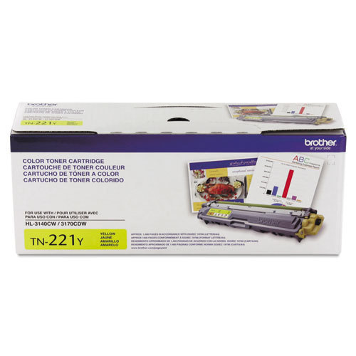 OEM Brother TN221Y Yellow Toner Cartridge