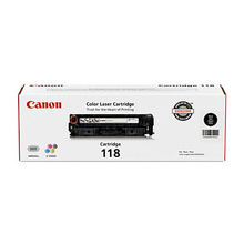 Canon 118 (3,400 Pages) High Yield Black Laser Toner Cartridge - OEM 2662B001AA