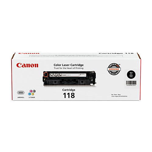 Canon 118 Black Toner Cartridge, OEM
