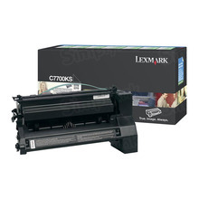 Lexmark OEM Black Return Program Laser Toner Cartridge, C7700KS (C770/C772/X772 Series) (6K Page Yield)