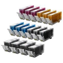 Compatible Canon Bulk Set of 16 Ink Cartridges - 4 Pigment Black and 3 each of: Black, Cyan, Magenta and Yellow