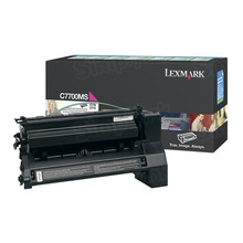 Lexmark OEM Magenta Return Program Laser Toner Cartridge, C7700MS (C770/C772/X772 Series) (6K Page Yield)