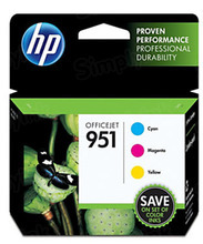 Genuine Original HP 951 Cyan, Magenta Yellow Combo Pack in Retail Packaging, (CR314FN)