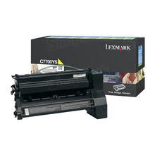 Lexmark OEM Yellow Return Program Laser Toner Cartridge, C7700YS (C770/C772/X772 Series) (6K Page Yield)