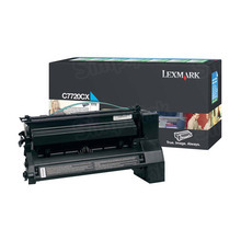 Lexmark OEM Extra High Yield Cyan Return Program Laser Toner Cartridge, C7720CX (C772/X772 Series) (15K Page Yield)
