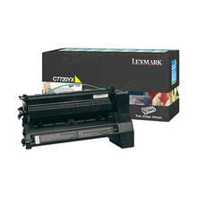 Lexmark OEM Extra High Yield Yellow Return Program Laser Toner Cartridge, C7720YX (C772/X772 Series) (15K Page Yield)