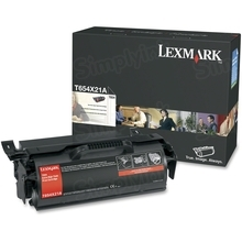 Lexmark OEM Extra High Yield Black Return Program Laser Toner Cartridge, T654X21A (36K Page Yield)