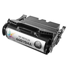 Lexmark Remanufactured High Yield Black Laser Toner Cartridge, 64015HA (21K Page Yield)