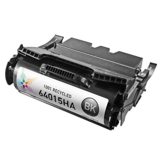 Remanufactured 64015HA HY Black Toner for Lexmark