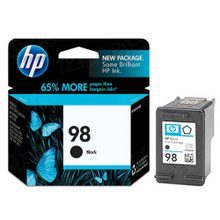 Original HP 98 Black Ink Cartridge in Retail Packaging (C9364WN)