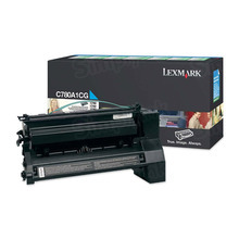 Lexmark OEM Cyan Return Program Laser Toner Cartridge, C780A1CG (C780/C782/X782 Series) (6K Page Yield)