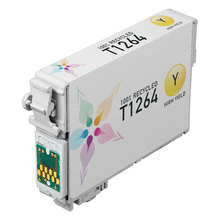 Remanufactured Epson T126420 (T1264) High Capacity Yellow Ink Cartridges