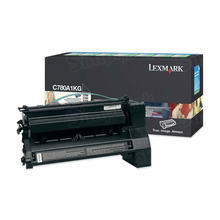 Lexmark OEM Black Return Program Laser Toner Cartridge, C780A1KG (C780/C782/X782 Series) (6K Page Yield)
