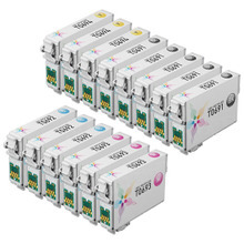 Remanufactured Epson Bulk Set of 14 Ink Cartridges 5 Black T069120 (T0691) and 3 each of: Cyan T069220 (T0692), Magenta T069320 (T0693) and Yellow T069420 (T0694))