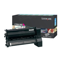 Lexmark OEM Magenta Return Program Laser Toner Cartridge, C780A1MG (C780/C782/X782 Series) (6K Page Yield)