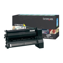 Lexmark OEM Yellow Return Program Laser Toner Cartridge, C780A1YG (C780/C782/X782 Series) (6K Page Yield)