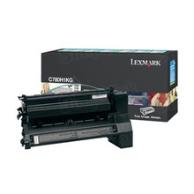 Lexmark OEM High Yield Black Return Program Laser Toner Cartridge, C780H1KG (C780/C782/X782 Series) (10K Page Yield)