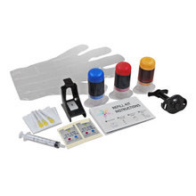 Refill Kit for Hewlett Packard C6657AN/C6657A (HP 57) Color Ink Cartridges