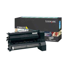 Lexmark OEM High Yield Yellow Return Program Laser Toner Cartridge, C780H1YG (C780/C782/X782 Series) (10K Page Yield)