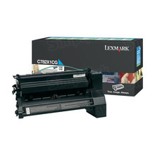Lexmark OEM Extra High Yield Cyan Return Program Laser Toner Cartridge, C782X1CG (C782/X782 Series) (15K Page Yield)
