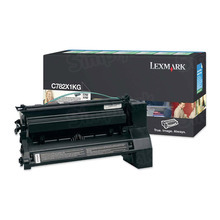 Lexmark OEM Extra High Yield Black Return Program Laser Toner Cartridge, C782X1KG (C782/X782 Series) (15K Page Yield)