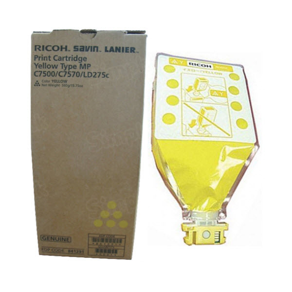 OEM Ricoh 841291 Yellow Toner Cartridge