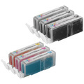 Canon PGI270XL & CLI271XL: 1 Pigment Black PGI270XL & 1 Each of CLI271XL Bk, C, M, Y, G (Compatible Ink)