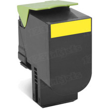 Lexmark OEM Yellow Return Program Laser Toner Cartridge, 80C1SY0 (CX310/CX410/CX510 Series) (2K Page Yield)