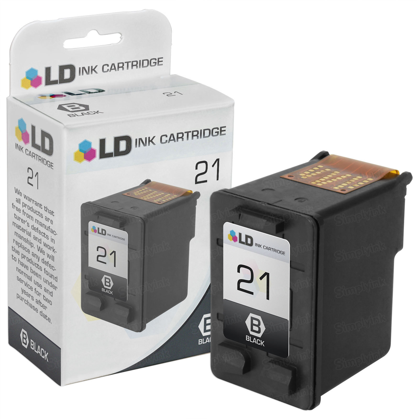Remanufactured Replacement Black Ink for HP 21
