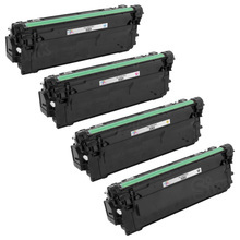 Compatible Replacement for HP 508X Black, Cyan, Magenta, Yellow Set of 4 Toner Cartridges