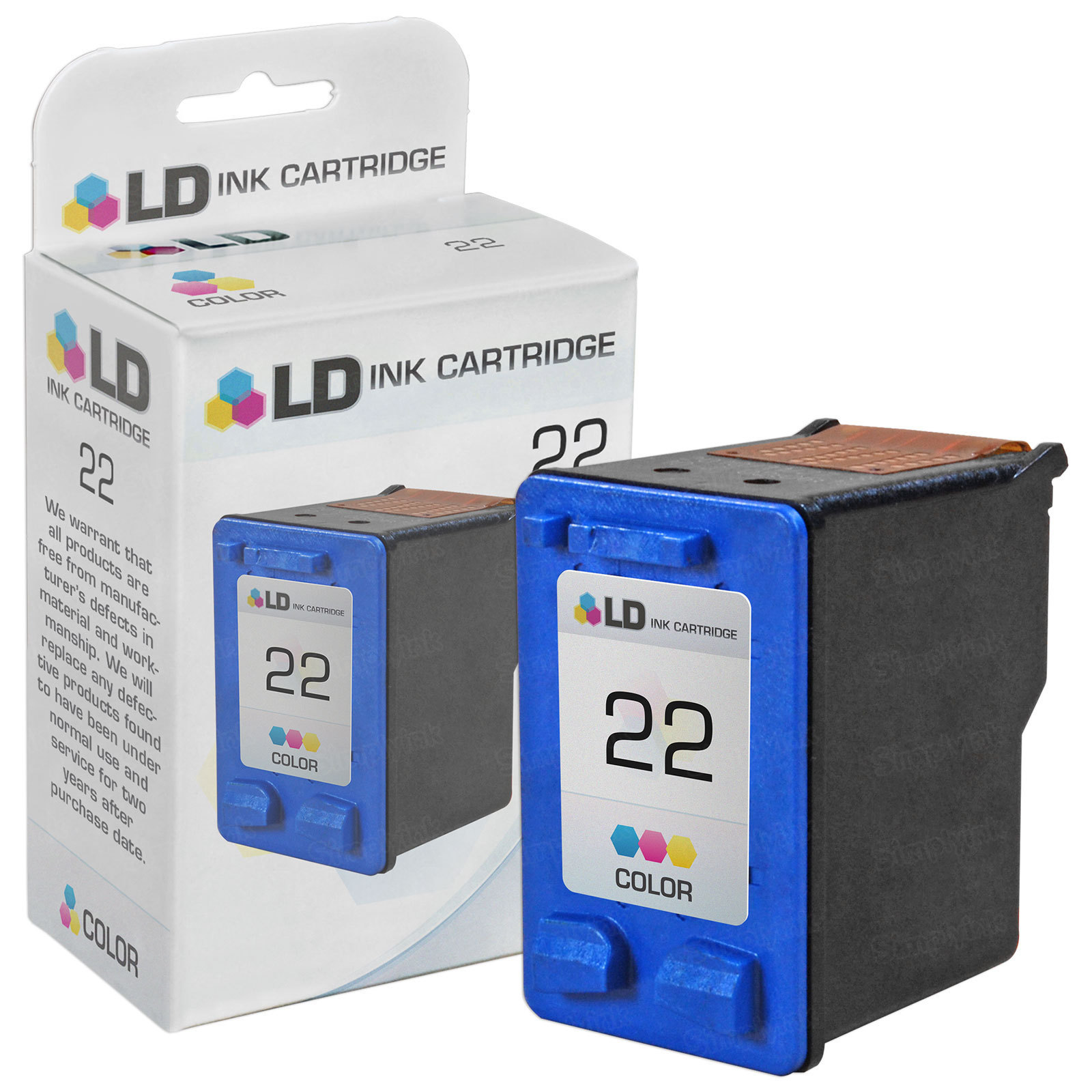 Remanufactured Replacement Tri-Color Ink for HP 22