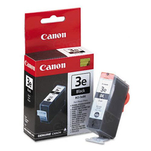 Canon BCI-3eBK Black OEM Ink Cartridge