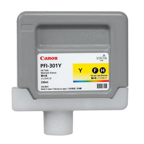 OEM Canon PFI-301Y Yellow Ink
