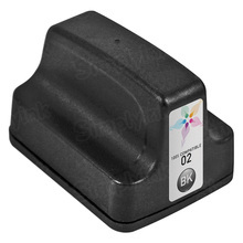 Remanufactured Replacement Ink Cartridge for Hewlett Packard C8721WN (HP 02) Black