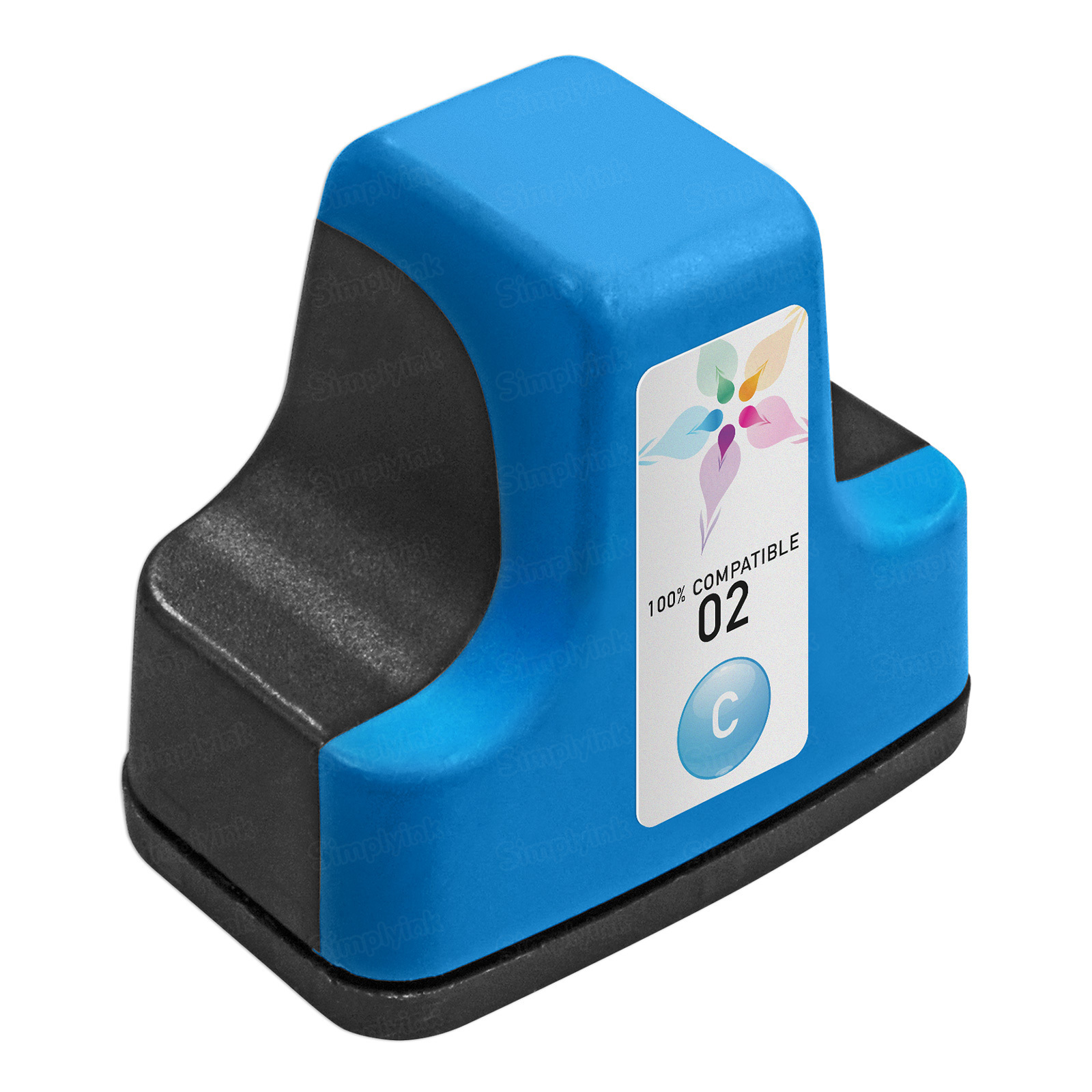 Remanufactured Replacement Cyan Ink for HP 02