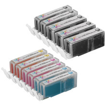 Compatible Canon High Yield Bulk Set of 11 Ink Cartridges 3 Pigment Black (PGI-270XL) and 2 each of Black, Cyan, Magenta and Yellow (CLI-271XL)