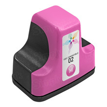 Remanufactured Replacement Ink Cartridge for Hewlett Packard C8772WN (HP 02) Magenta