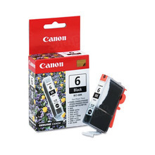 Canon BCI-6BK Black OEM Ink Cartridge, 4705A003