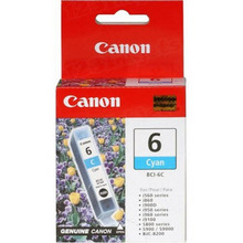 Canon BCI-6C Cyan OEM Ink Cartridge, 4706A003