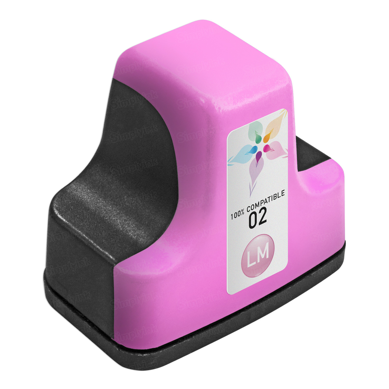 Remanufactured Replacement Light Magenta Ink for HP 02