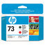 Original HP 73 Matte Black and Chromatic Red Printhead in Retail Packaging (CD949A)